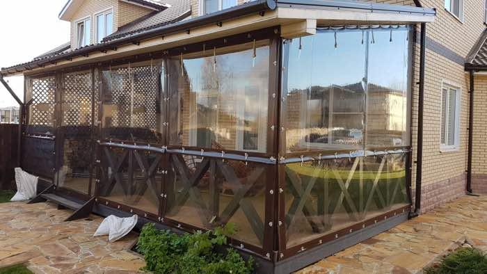 мягкие окна на террасу в Заокском