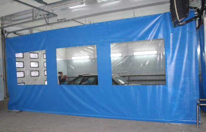 шторы ПВХ для автомоек и складских помещений
