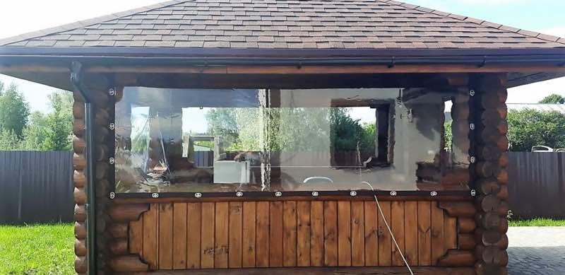 Мягкие окна для беседок в Туле
