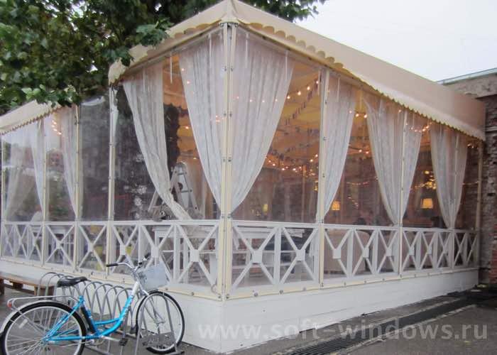 мягкие окна для летнего кафе