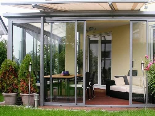 алюминиевые раздвижные окна на террасу