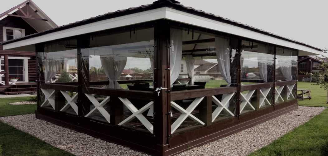 натяжные окна для беседок и террас